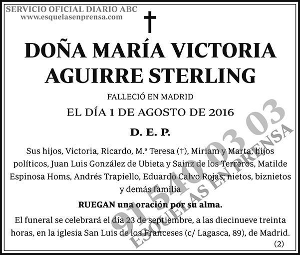 María Victoria Aguirre Sterling